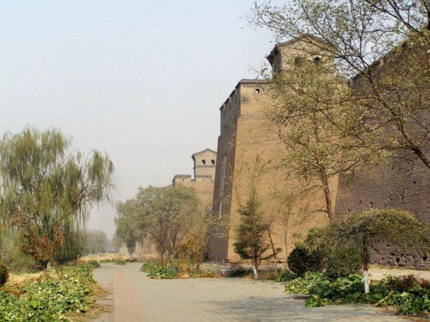 Pingyao Stadtmauer von außen
