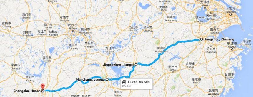 Busfahrten durch China