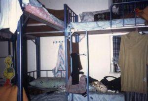 Der Frauen-Schlafsaal im Victoria-Hostel in Hongkong 1991