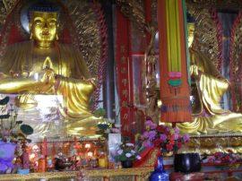Goldene Buddhas im Famen-Tempel bei Xi'an