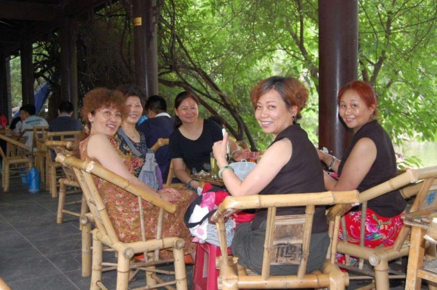 In einem Teehaus in Chengdu