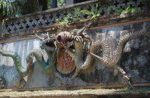 Chengdu Dekoration am Tempel