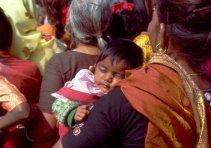Internationaler Frauentag in Delhi