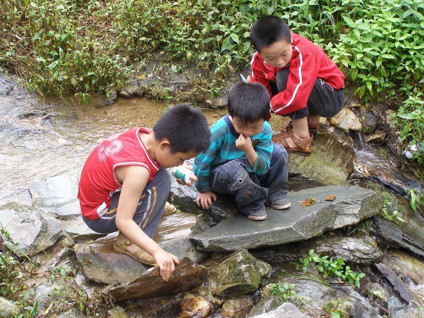 Longsheng spielende Kinder