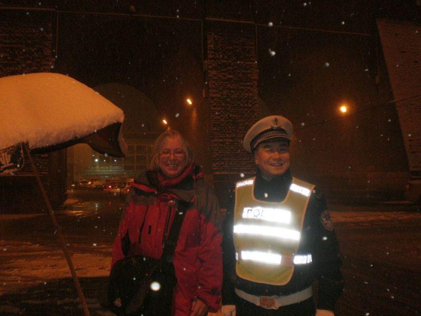 Foto mit Polizist