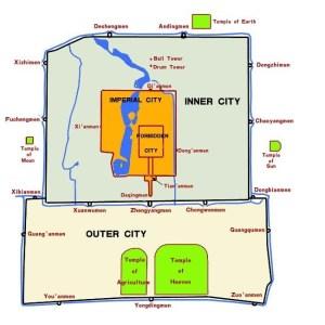Stadtplan Altes Peking