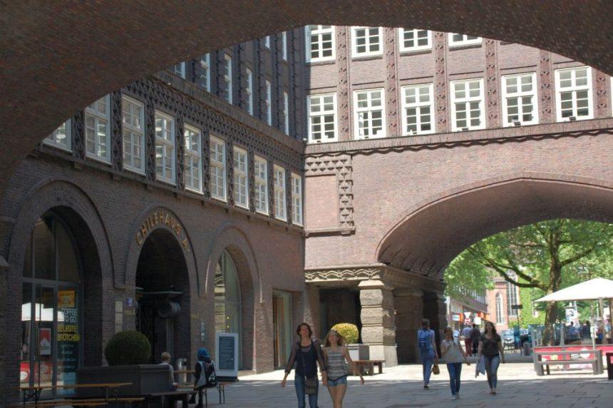 Im Kontorhaus-Viertel Hamburg
