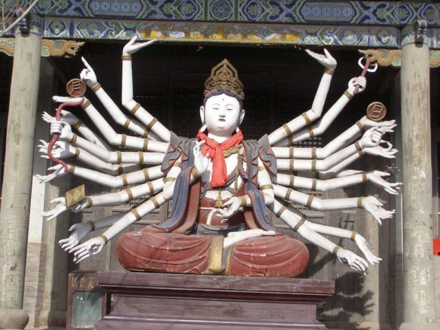 Shuanglin Tempel - Guanyin mit vielen Armen