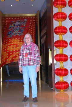 Sieht so ein VIP aus? Kurz vor Betreten des Bankettsaals in Taiyuan