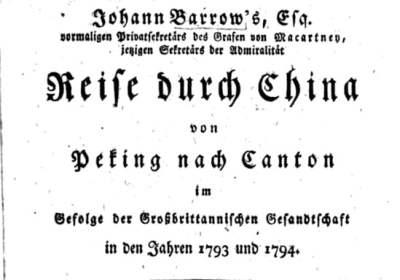 Buchtitel von Barrows Reise durch China