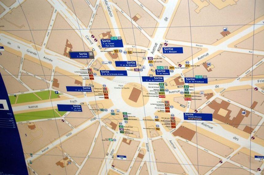 Übersicht über die Station Charles de Gaulles - Etoiles
