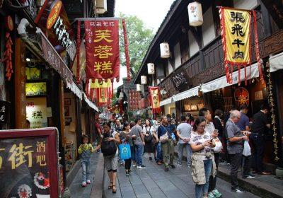 Jinli Straße in Chengdu - Menschenmassen