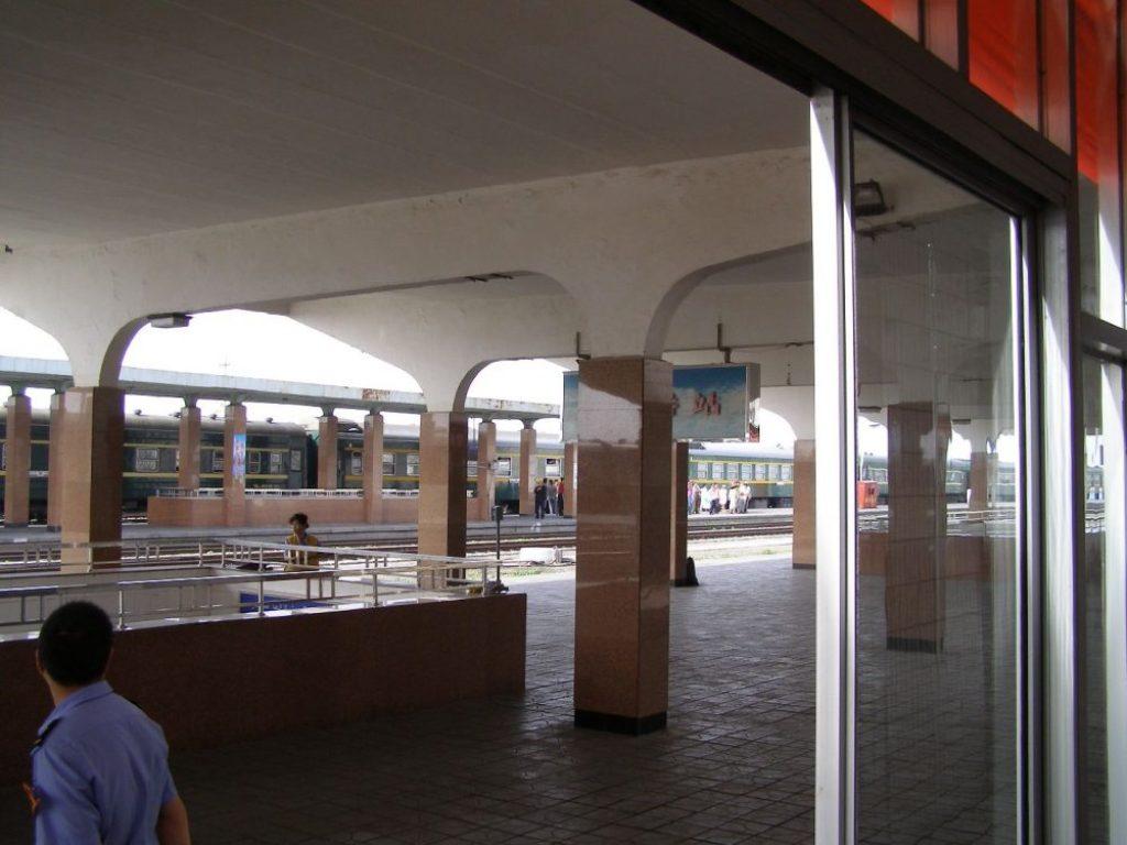 Turfan - Blick auf den Bahnsteig