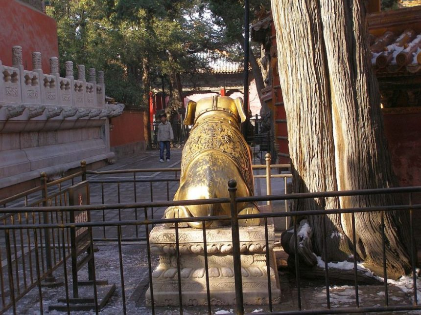 Elefant in der Verbotenen Stadt in Peking