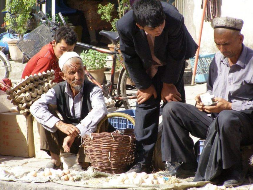 Eierverkäufer in de Handwerkergasse