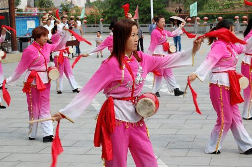 Großer Empfang in Guoyu, Shanxi