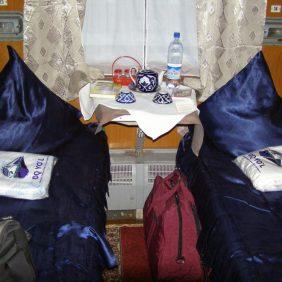 Im Zug von Tashkent nach Buchara