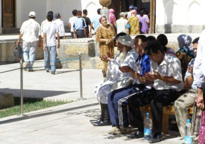 Pilger in Buchara
