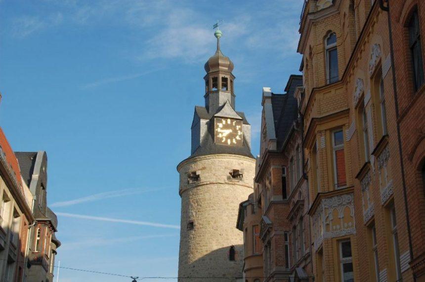 Leipziger Turm ind er Nähe vom Hotel