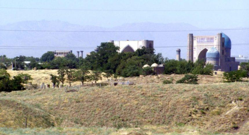 Afrosiab mit Blick auf Samarkand
