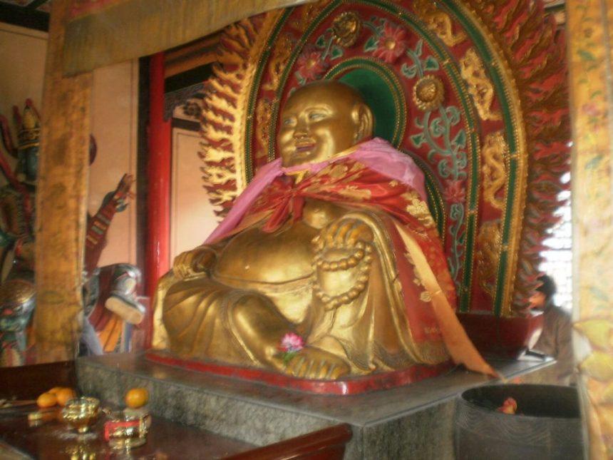 Budai, die Inkarnation des Buddha Maitreya