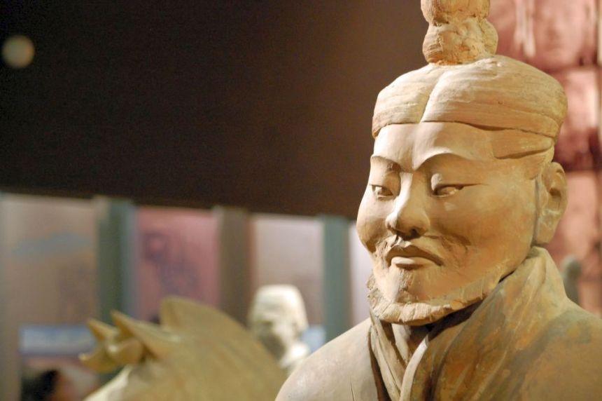 Terrakotta-Armee, General im Shaanxi Provinzmuseum