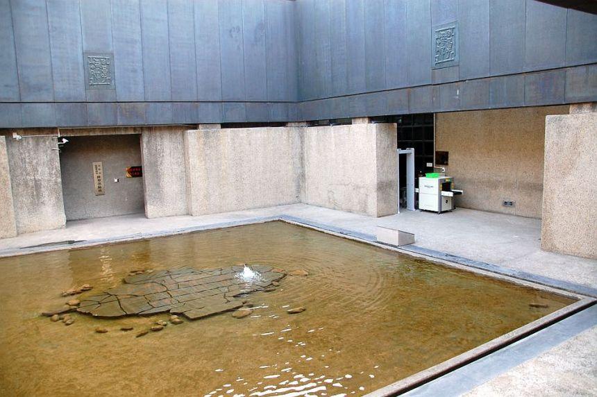 Der Eingang zum Museum der Yinxu Ruinen