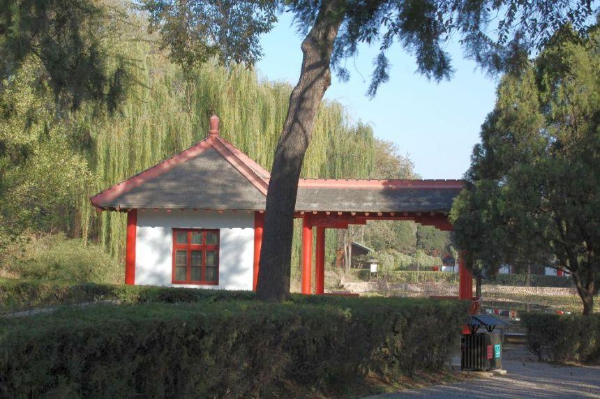 Im Archäologie-Park der Yinxu Ruinen