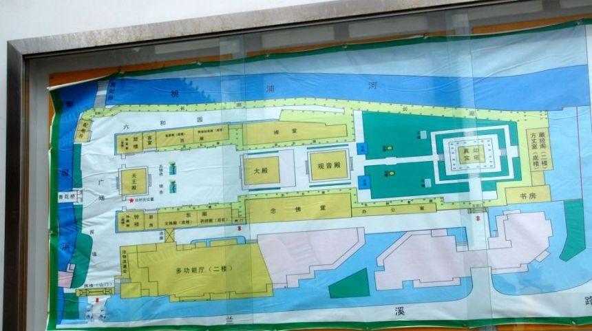 Zhenru Tempel Übersichtsplan