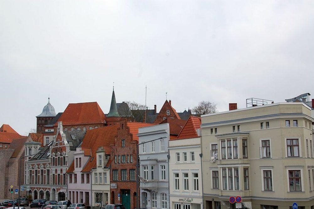 Lübeck am Trave-Hafen