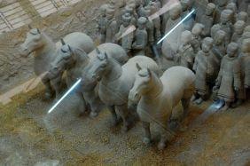 Terrakotta-Armee von Xuzhou Graben