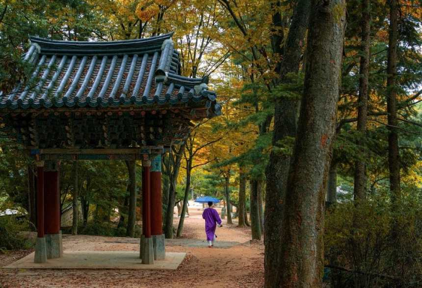 Dorf in Südkorea beim Haeinsa