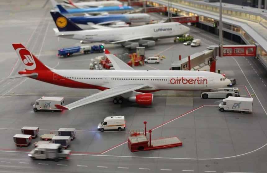 Der Flughafen im Miniatur Wunderland