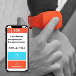 DIAL, le bracelet d'alerte GPS connecté aux secours en mer