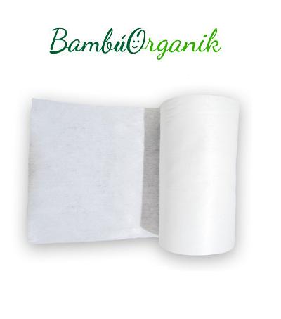 Rollo con 100 toallas de bambú