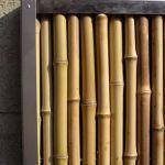 Edelstahl-Bambuszaun