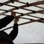 Handarbeit für das Bambusgeflecht