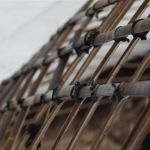 Bambusstreifen verknüpft