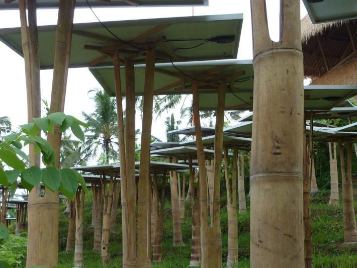 Solar-Module mit Bambuskonstruktion CONBAM