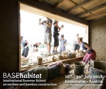 BASEhabitat International Summer School on earthen and bamboo construction 2018