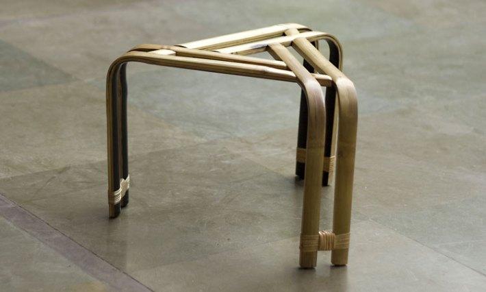 Garima Aggarwal bamboo stool - Bambushocker aus Bambuslatten
