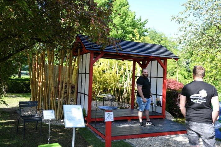 Bambusprojekt der Gartenausstellung Tiny Gardens 2019