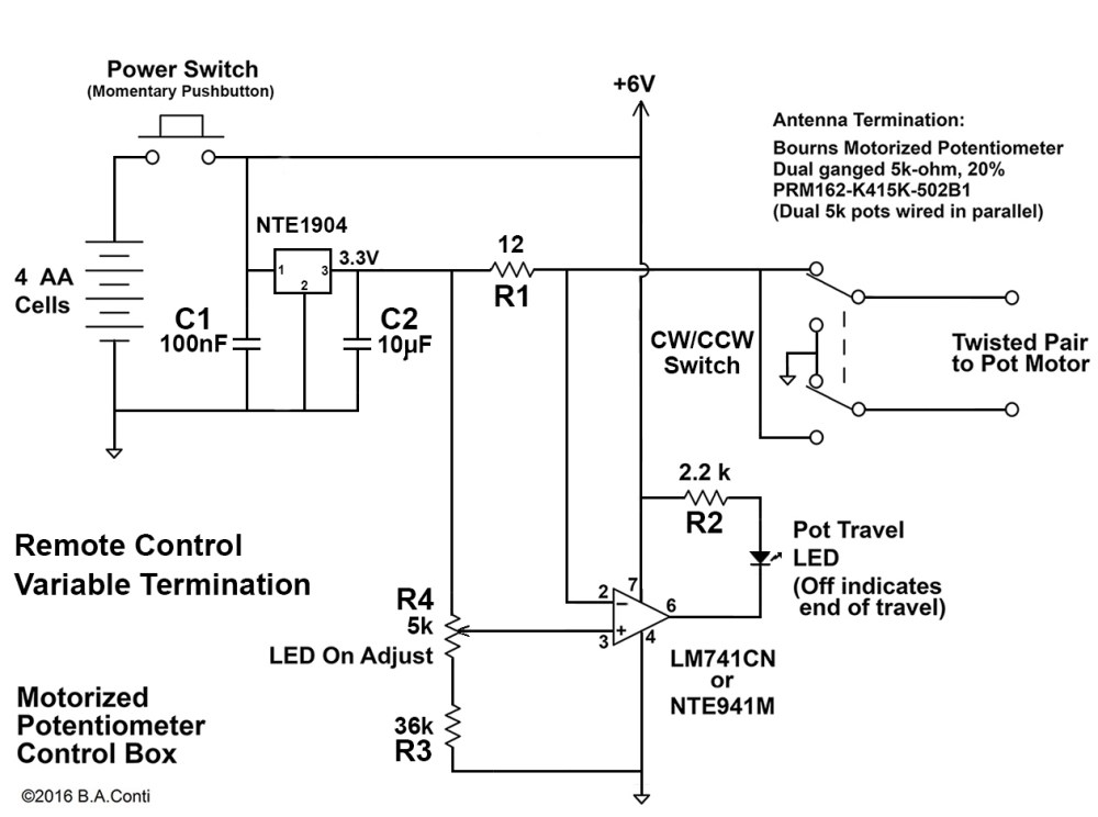 medium resolution of motorized potentiometer for remote control variable termination