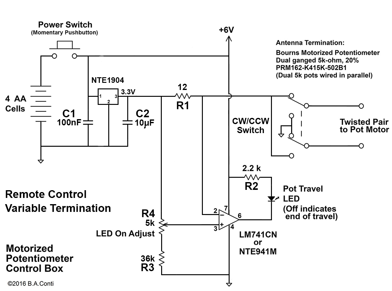 hight resolution of motorized potentiometer for remote control variable termination