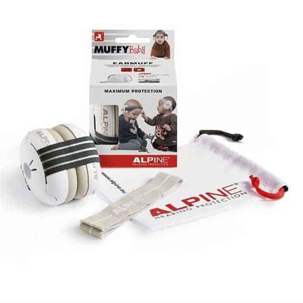 alpine muffy baby zwart gehoorbescherming baby verkrijgbaar bij Banaan in je oor.com