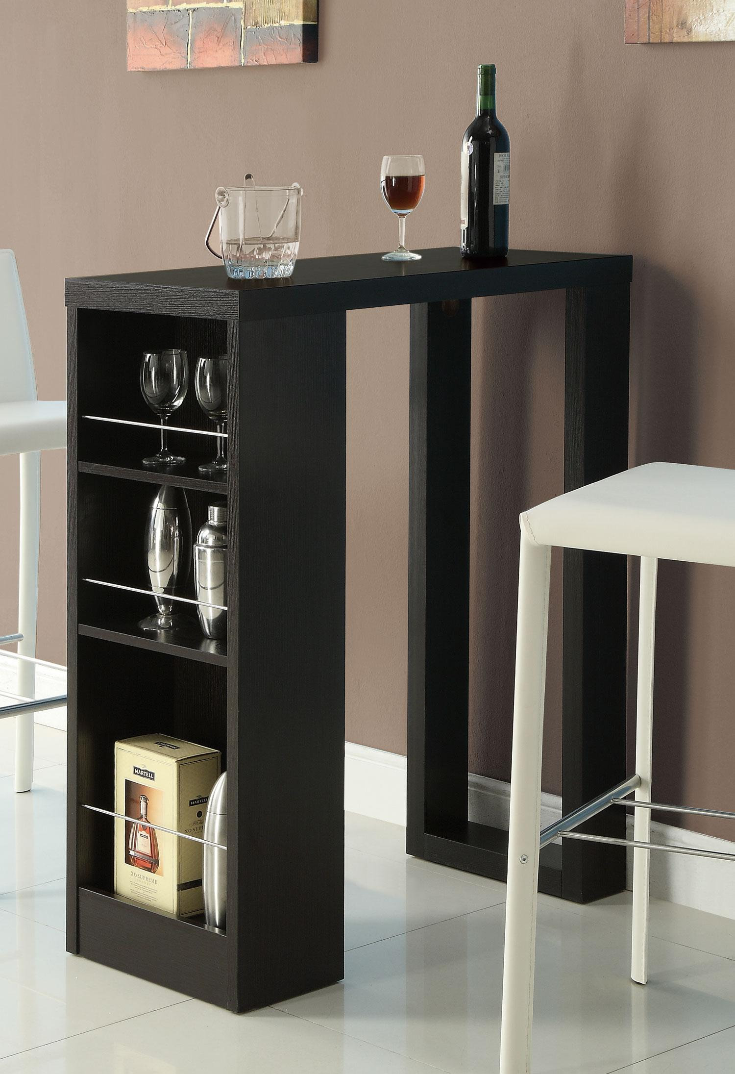 Bar table w three storage shelves  Bana Home Decors  Gifts