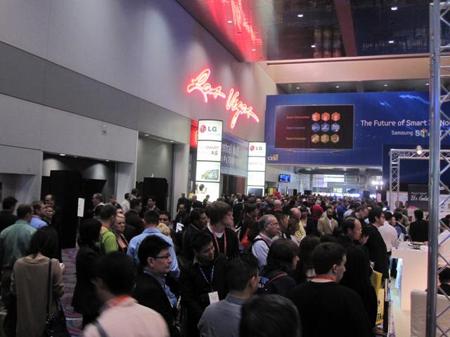 CES 2012 crowds