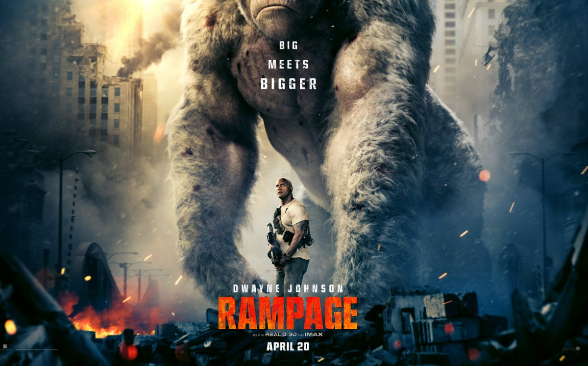 "Rampage | Gorilas, lobos e crocodilos gigantes em novo filme do ""The Rock"""