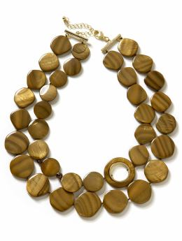 Mother-of-pearl two strand necklace