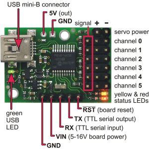 Pololu Micro Maestro 6 Channel Servo Controller